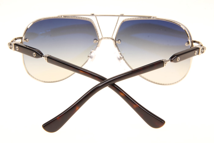 C-H Postyank Sunglasses In Silver Gradient Grey