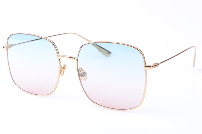CD Stellaire Sunglasses In Gold Light Blue Pink