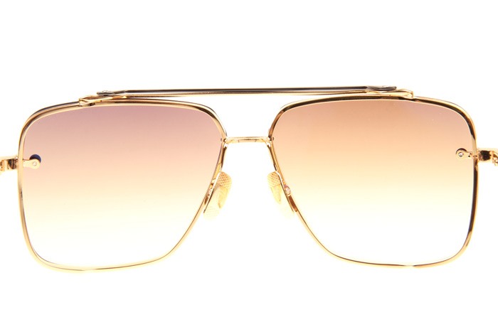 DT Mach Six Sunglasses In Gold Gradient Brown