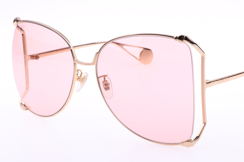 GG0252S Sunglasses In Gold Pink
