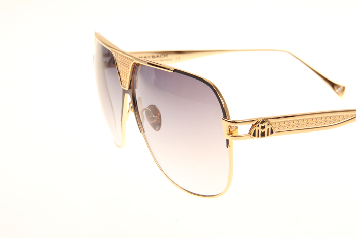 MBH The Player Sunglasses In Gold Black Gradient Grey
