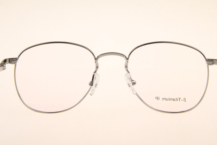 Pure Beta Titanium BS8017 Eyeglasses In Silver