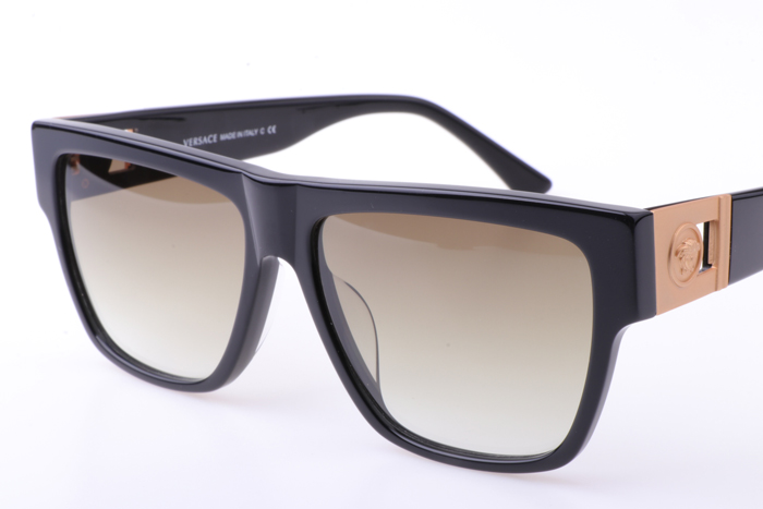 VE372A Sunglasses In Black Gold